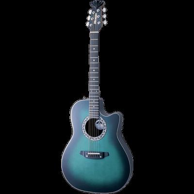 400x400 Acoustic Blue Guitar Transparent Png