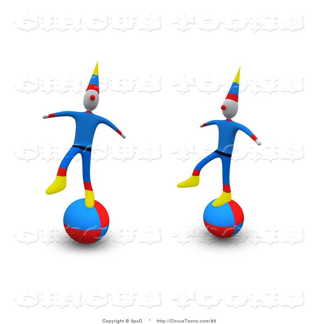 1024x1044 Circus Clipart Of Two Circus Clowns Performing A Balancing Act