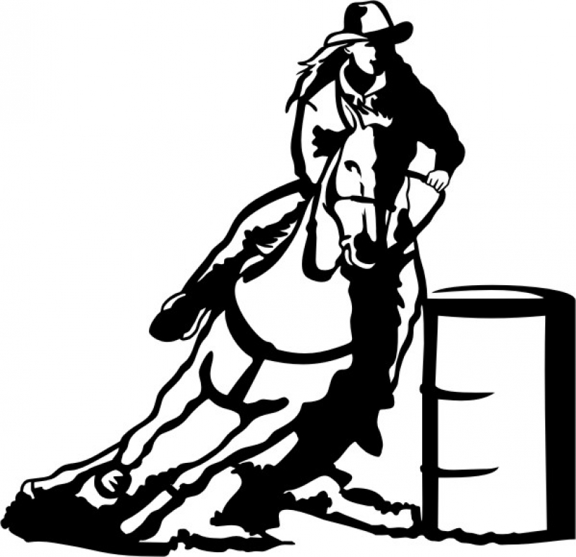 820x793 Barrel Racing Clip Art Schliferawardpng Barrel Racing Clip Art