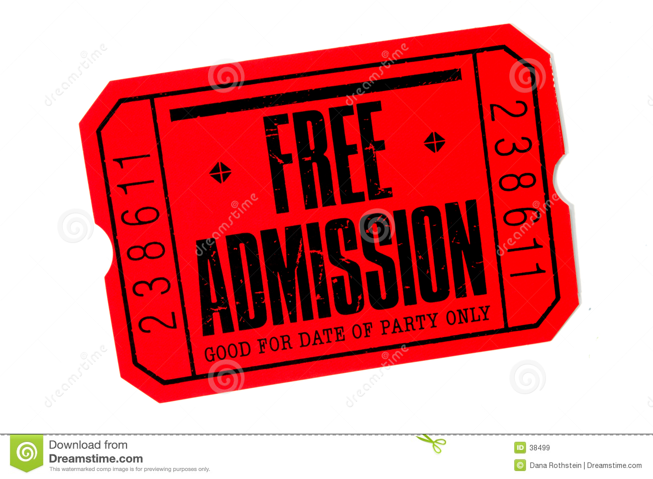 ticket admission template