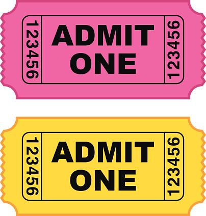404x424 Admit One Ticket Clipart