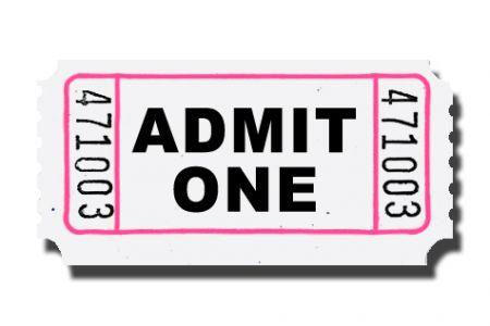 450x300 Admit One Ticket Clip Art