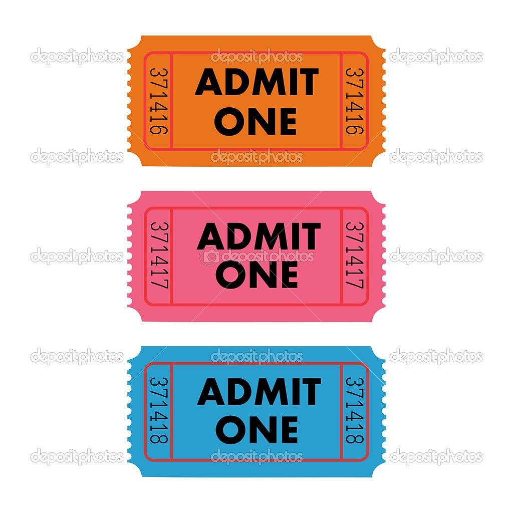 1024x1024 Admit One Ticket Clipart Kid Clip Art Ticket Masir