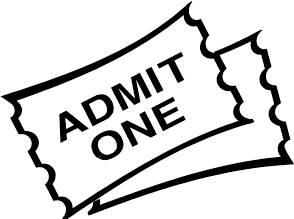 294x219 Admit One Clip Art Of Ticket Clipart Panda