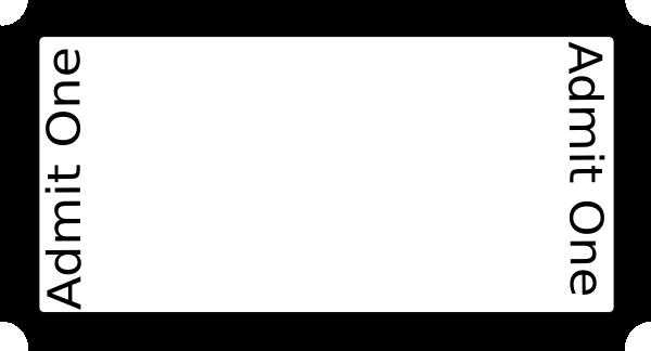 600x324 Blank Ticket On Full Size Paper Clip Art