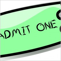 200x200 Free Admission Ticket Clip Art