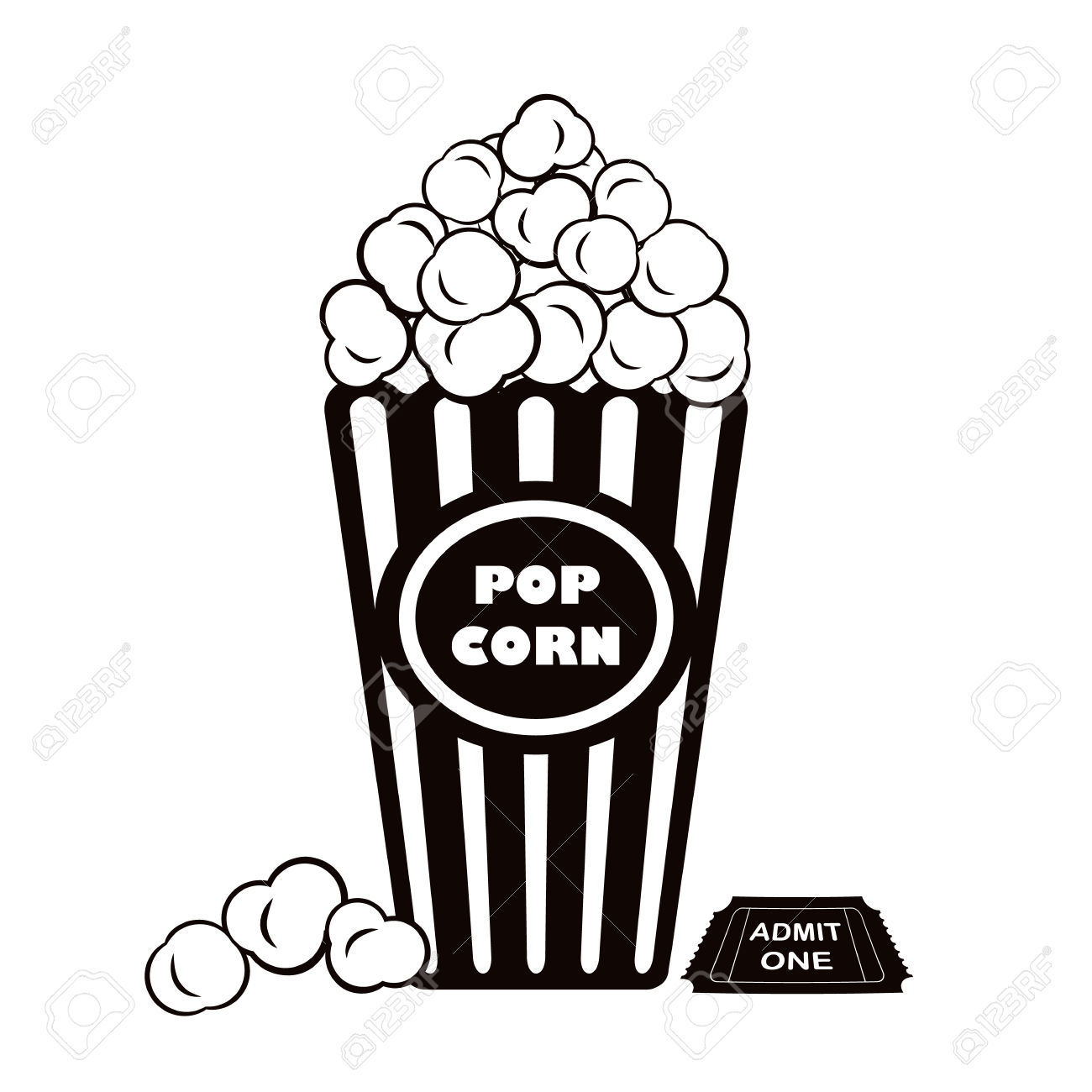1300x1300 Popcorn Clipart One