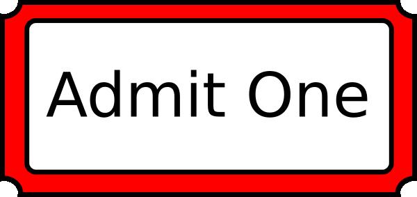 600x283 Red Admit One Clip Art