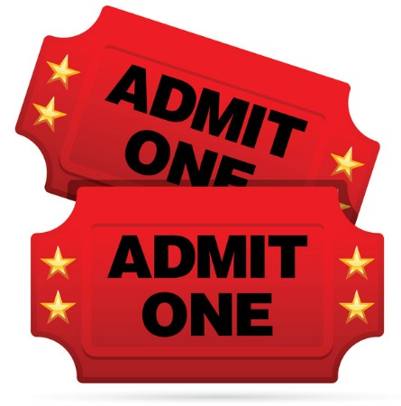 445x450 Red Tickets Clipart