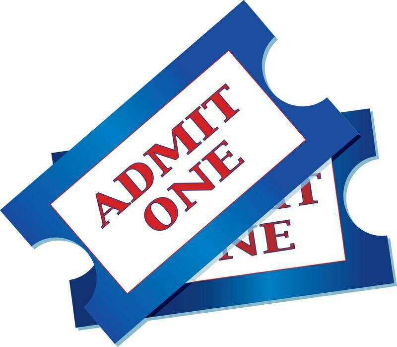 800x698 Admission Ticket Clipart
