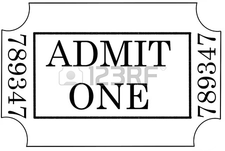 450x302 Admit One Illustration Stock Photo, Picture And Royalty Free Image
