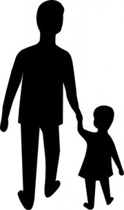 180x303 Adult Child Clip Art, Vector Adult Child