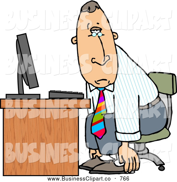 600x620 Computer Tired Clipart