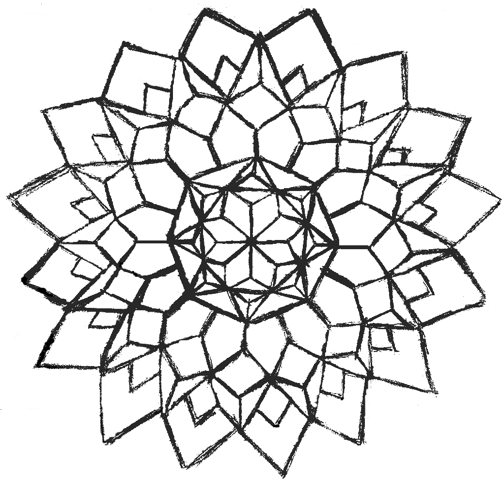 1036x988 Advanced Geometric Coloring Pages