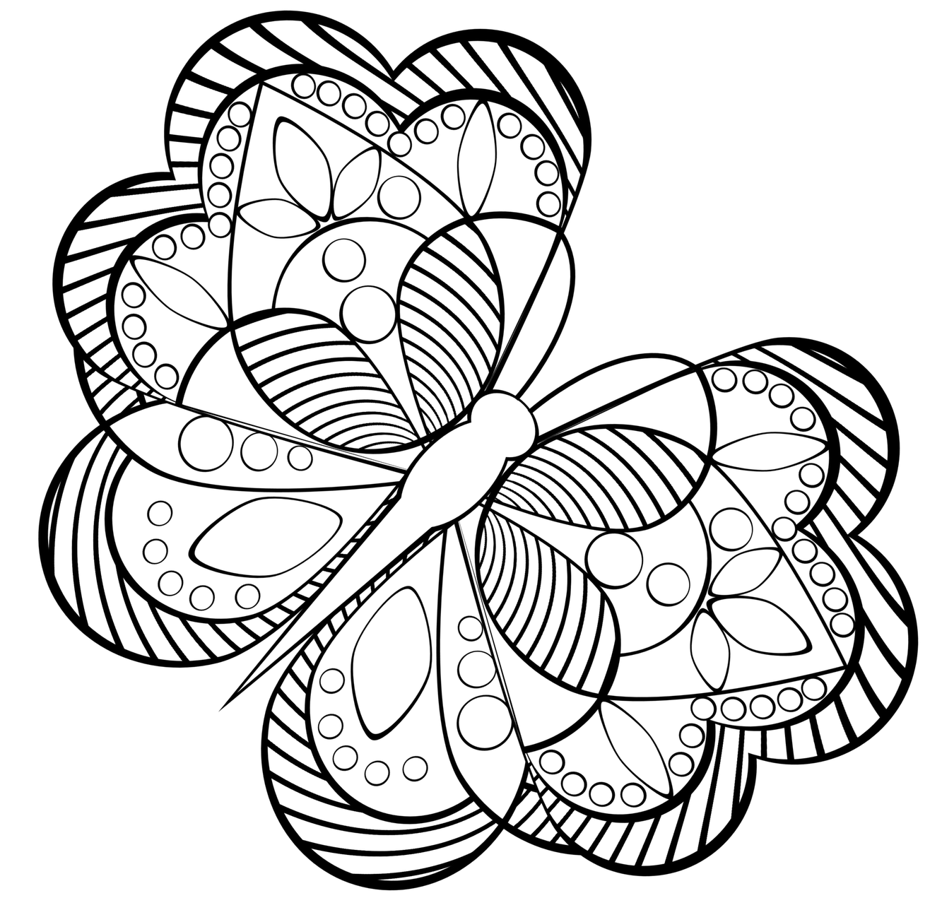 1333x1271 Advanced Coloring Pages Of Butterfly