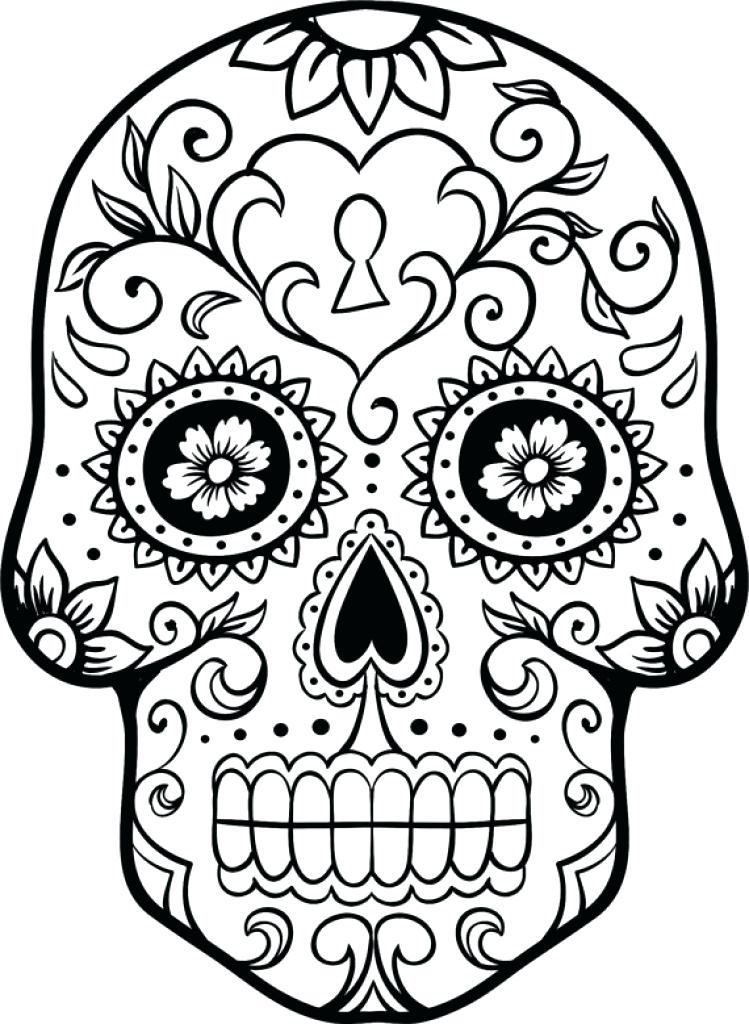 749x1024 Coloring Pages Sugar Skulls Day Of The Ad Sugar Skull Coloring
