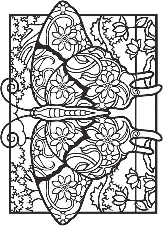 693x960 Beautiful Butterfly Art Therapy Adult Coloring Pagescoloring