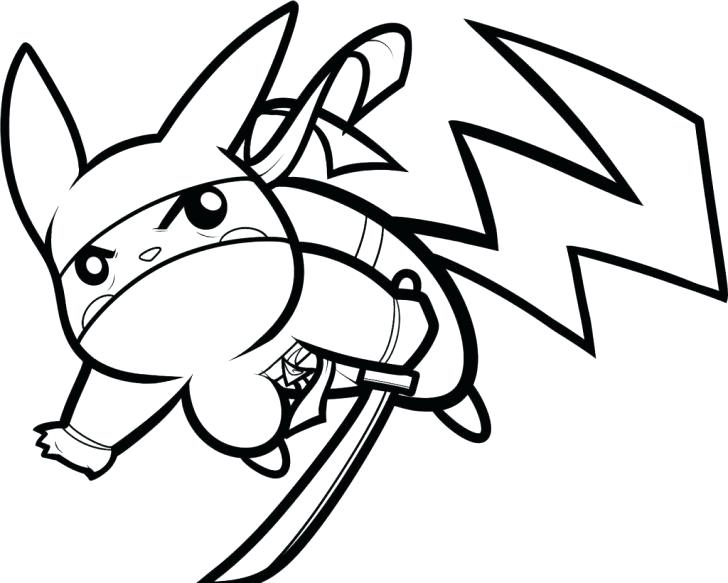 728x583 Magnificent Awesome Coloring Pages Of Pikachu Free Download Ninja