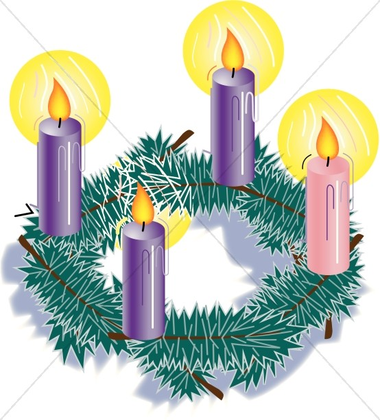 554x612 Advent Candles Clipart