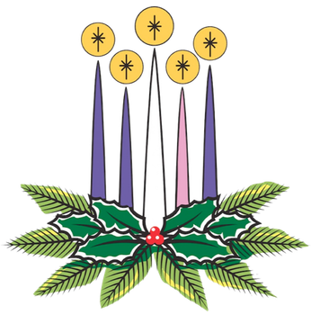 346x350 Advent Candles Clipart