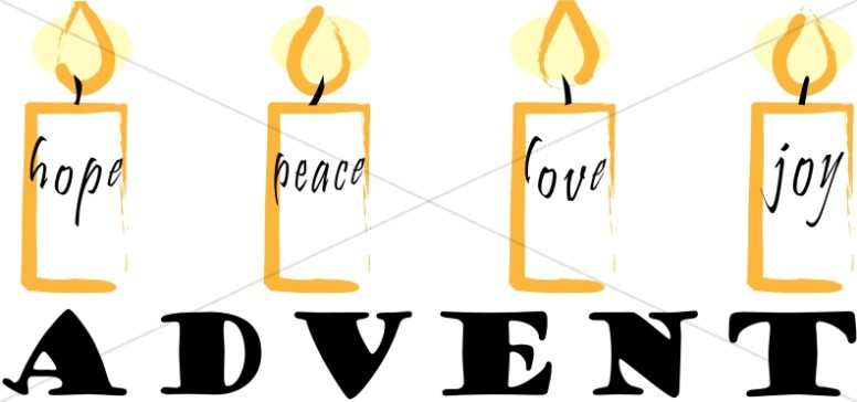776x364 Christmas Word Art For Advent Advent Clipart