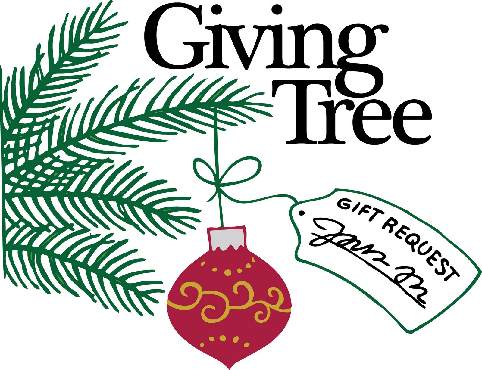 1600x1229 Christmas Giving Tree Clipart