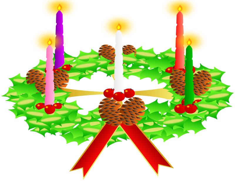 800x617 Free Advent Wreath Clip Art
