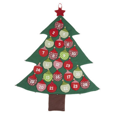 400x400 Wood And Fabric Christmas Advent Calendars