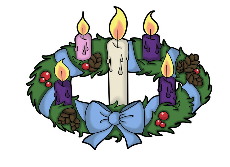 800x581 Advent Wreath Clipart