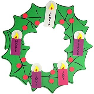 318x320 Magnetic Advent Wreath And Candles For Christmas
