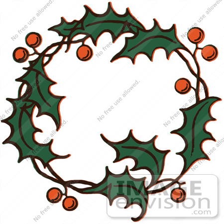 450x450 Christmas Wreath Holly Clipart, Explore Pictures