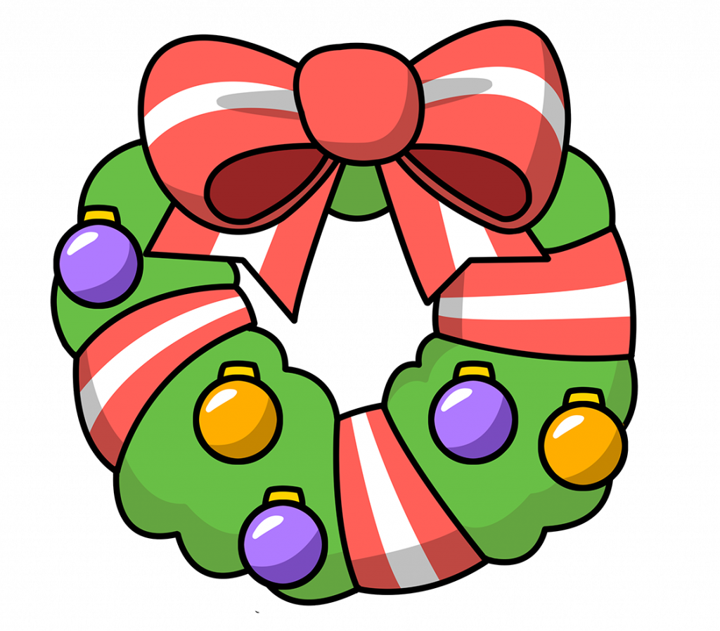 1024x897 Christmas ~ Phenomenalas Wreath Clip Art Black And White Animated