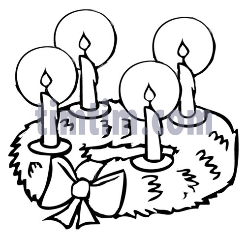 502x480 Free Drawing Of Advent Wreath Bw From The Category Christmas