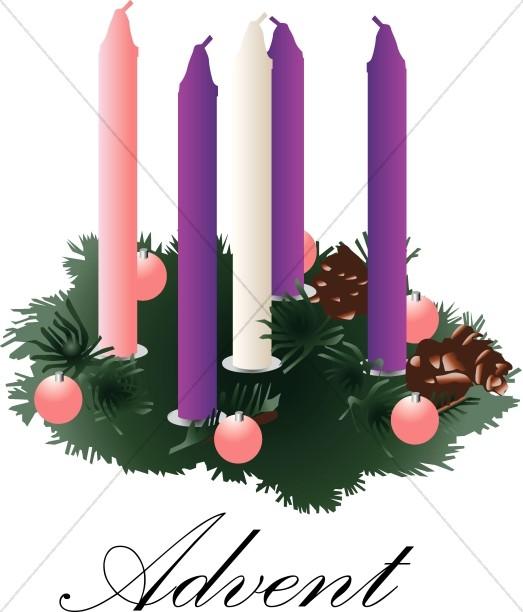 523x612 Advent Wreath Clipart