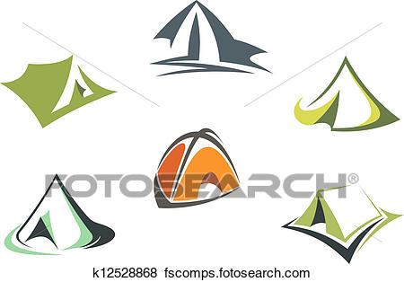 450x314 Clip Art Of Travel And Adventure Camp Tents K12528868