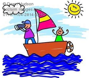 300x264 Kids Sailing A Sailboat On An Adventure