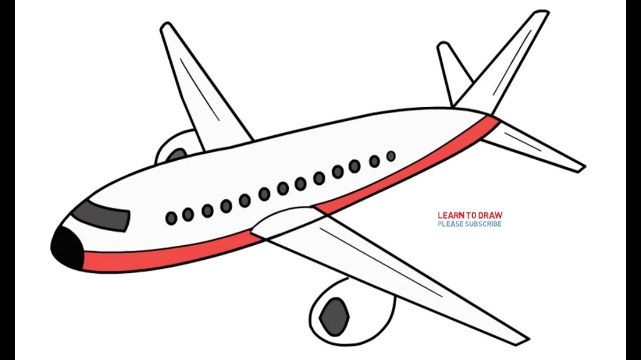 1280x720 How To Draw An Airplane Step By Step Easy
