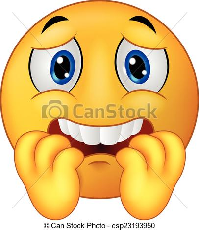 406x470 Smiley Clipart Scared