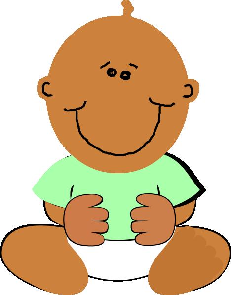 468x598 Black Baby Clip Art