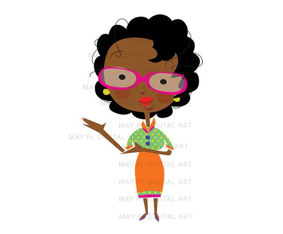570x470 African American Teacher Clipart