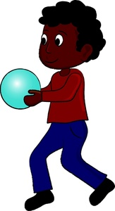 163x300 Boy Playing Clipart Image