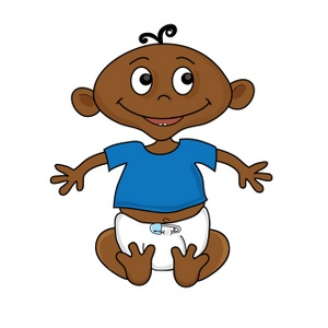 300x300 Free African American Baby Clipart Image 0515 1002 0101 2120