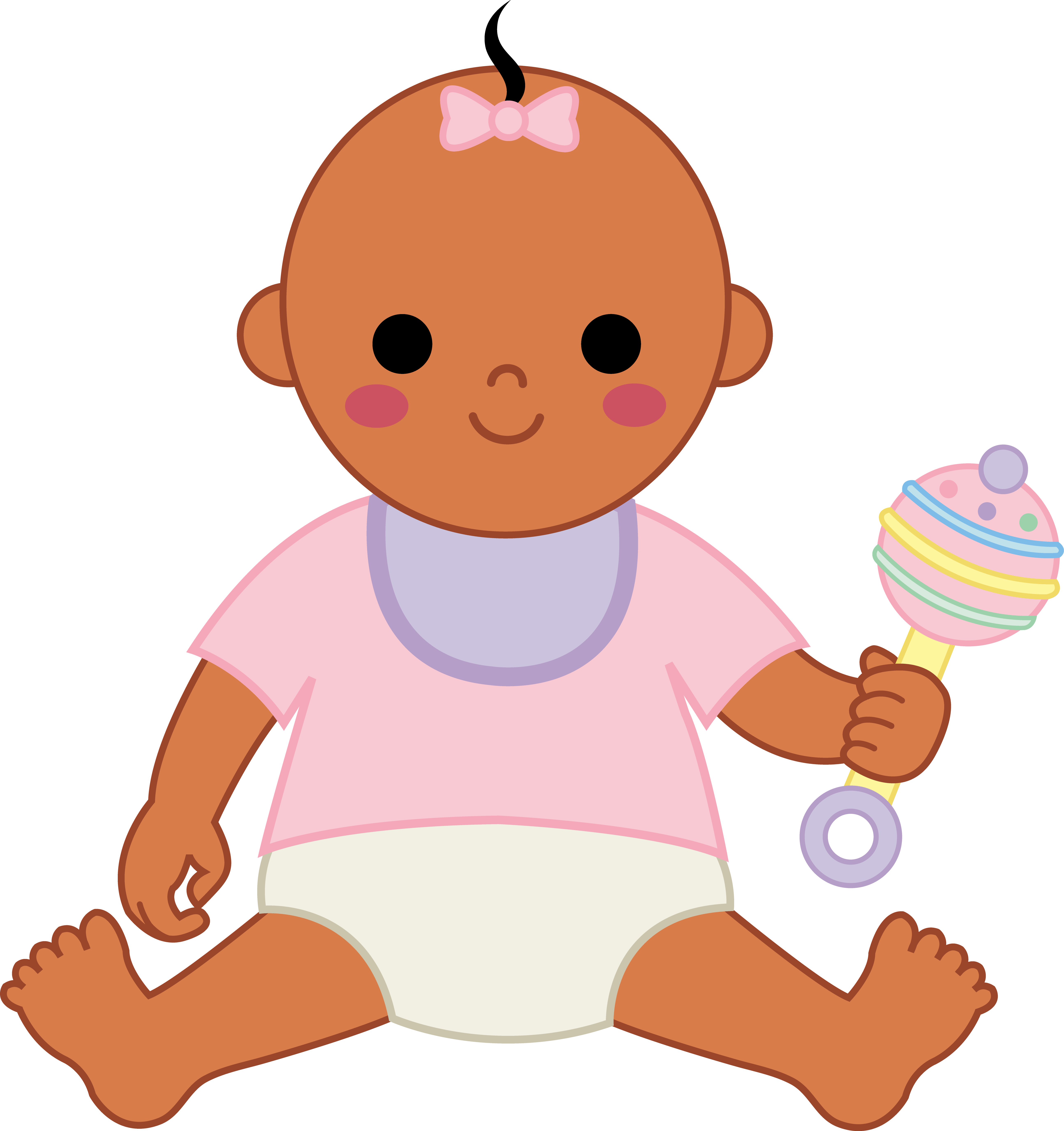 5177x5502 Image Of African American Baby Clipart