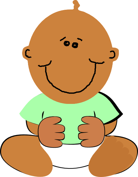 468x598 African American Baby Clipart