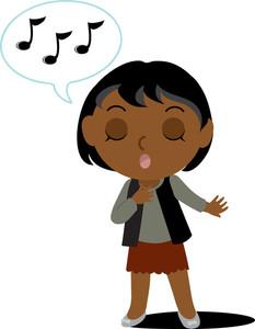 233x300 Singing Clipart Image