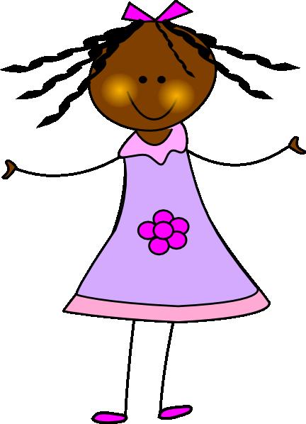 432x598 African American Doll Clip Art