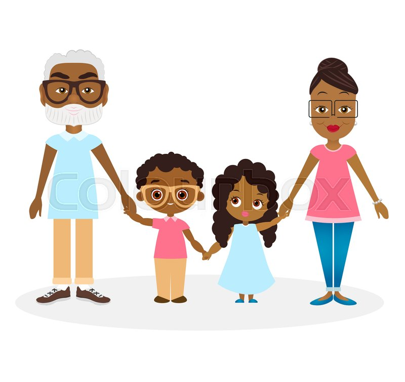 800x755 African American Grandparents With Grandson And Granddaughter