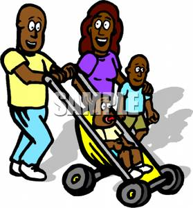 279x300 Art Image A Smiling African American Family