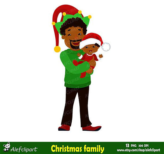 570x536 Christmas Family Clipart Family African American Christmas