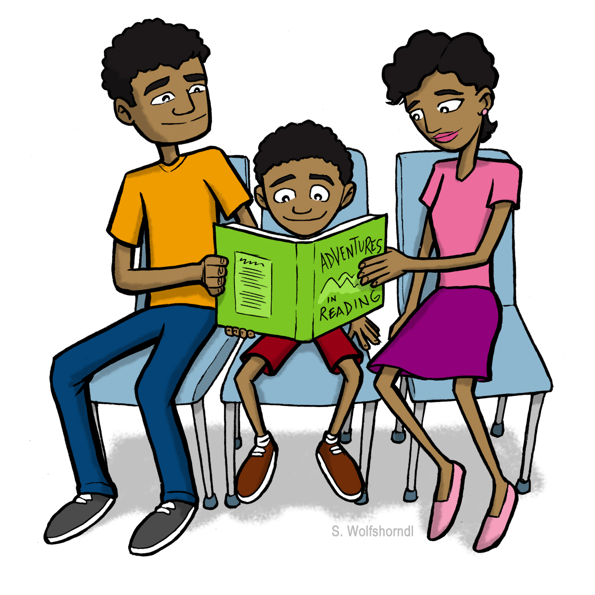 1200x1200 Image Of African American Family Clipart